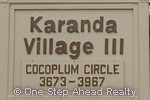 sign for Karanda III of The Township