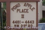 sign for Pond Apple Place II of The Township