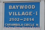 sign for Baywood Village I of The Township