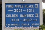 sign for Golden Raintree IV of The Township