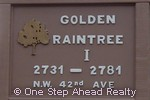 sign for Golden Raintree I of The Township